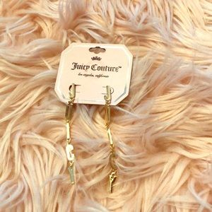 Juicy couture letters juicy earring